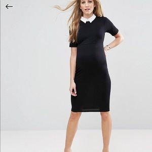 ASOS Maternity Bodycon Dress with Contrast Collar